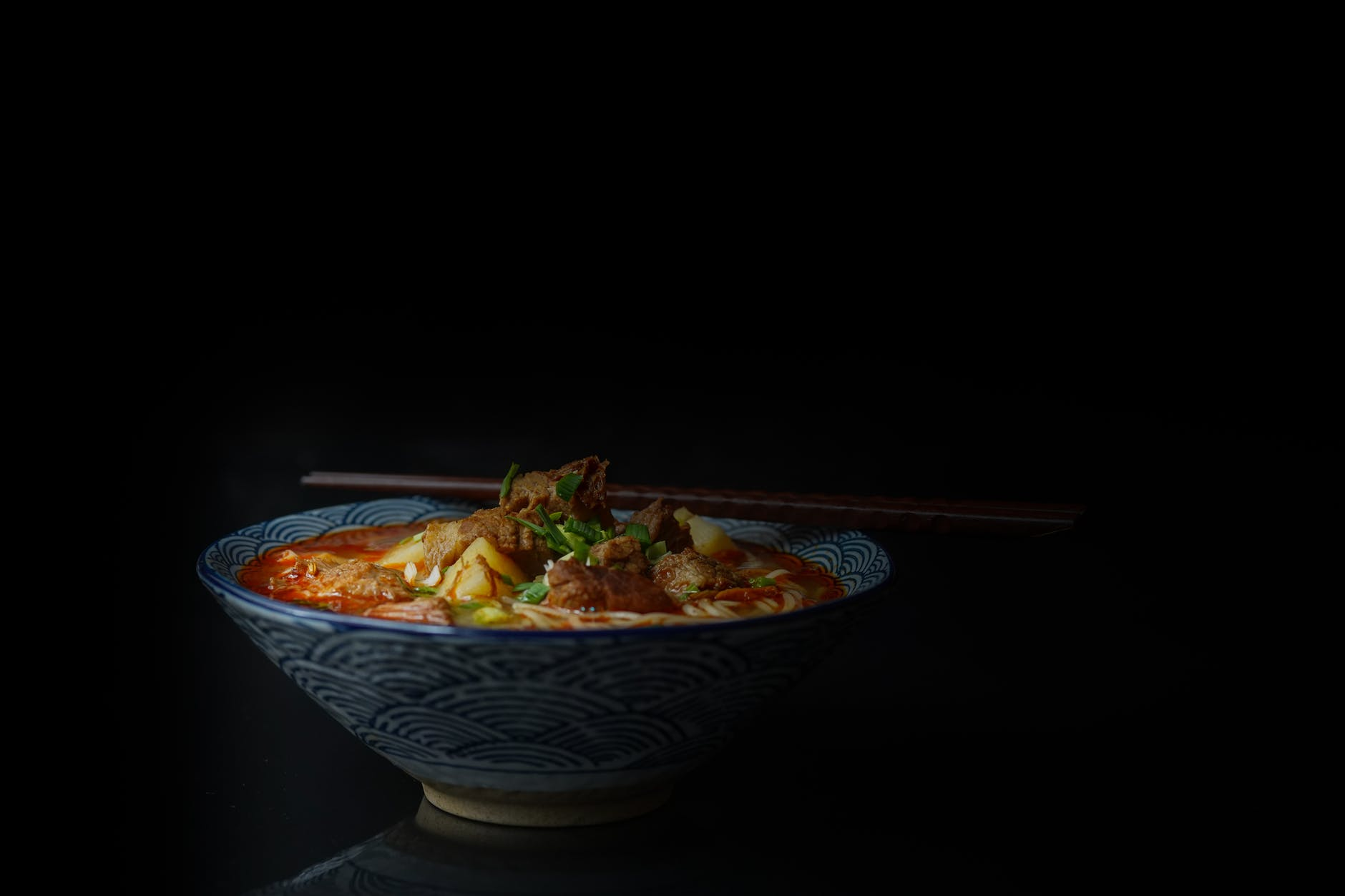 soup served on bowl