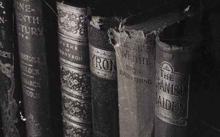 close up photography of old books